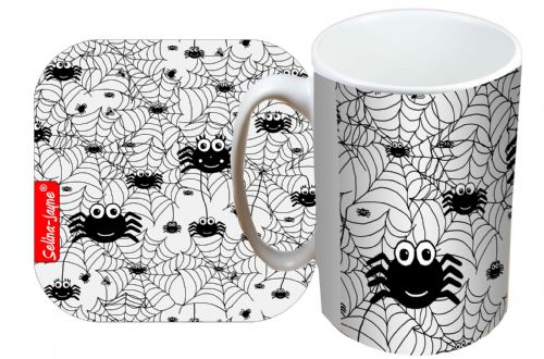 Selina-Jayne Spiders Limited Edition Designer Mug and Coaster Set